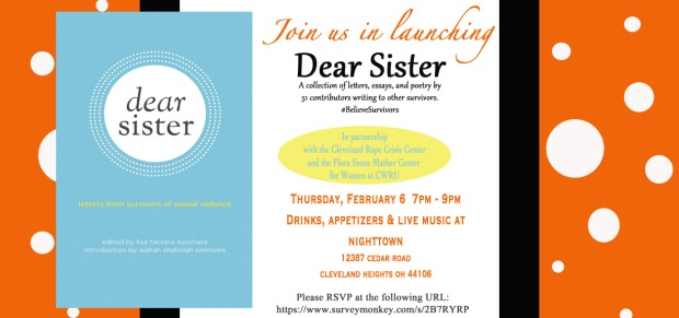 Dear Sister Launch Party Invitation
