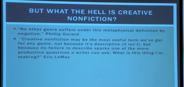 What the Hell is Creative Nonfiction?